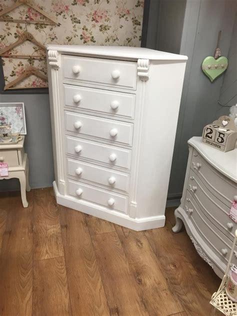 beautiful white wash corner chest  drawers fab addition   shabbychic bedroom home