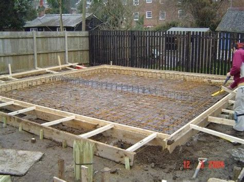 domestic extension raft foundation technical detail uk