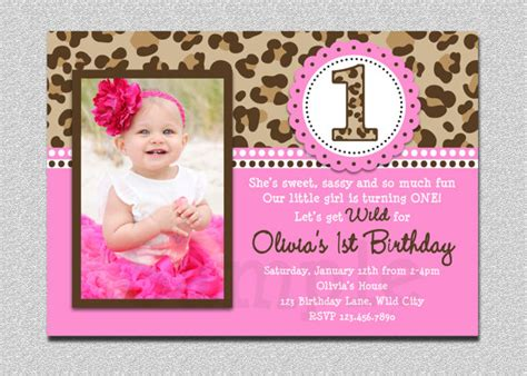 1st birthday invitation card for baby iidaemilia