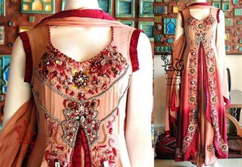 gaun dress design in pakistan jannat nazir bridal collection 2014 new summer wear