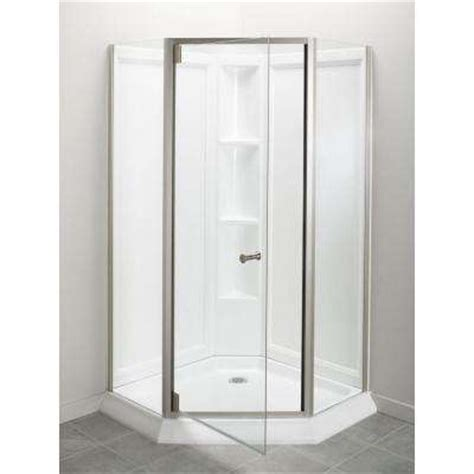 Plastic Shower Stall Acrylic Shower Stalls Kits Showers The Home Depot