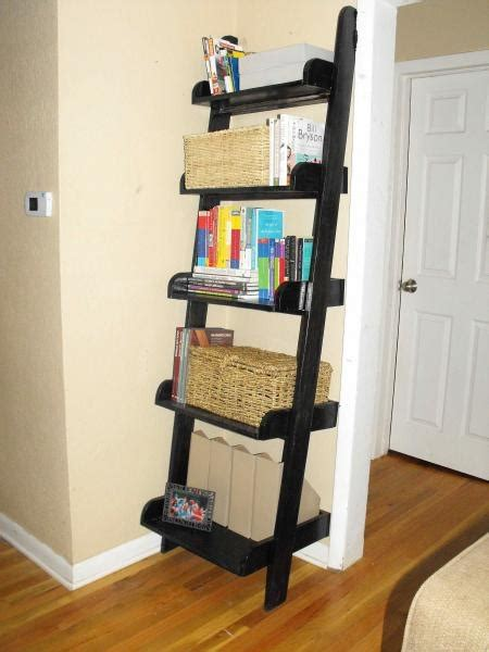 leaning ladder shelf plans woodworking projects plans