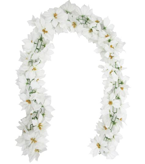 holiday cheer poinsettia chain garland white jo ann
