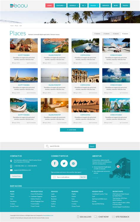 joomla k2 templates preview sj decou travel joomla template for k2 component