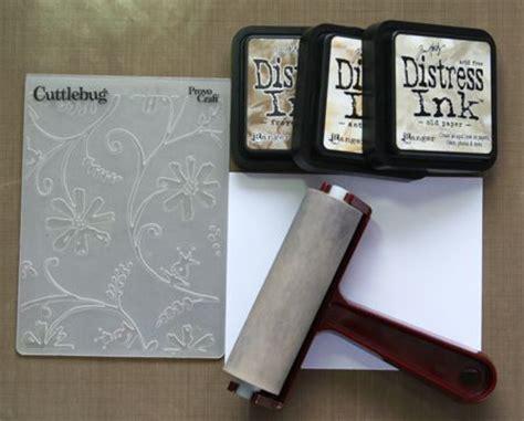 tutorial scrapbook embossing distress ink and more embossing folders from scrapbook
