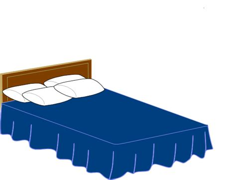 art bedding blue bed clip art at clker com vector clip art online royalty free public domain