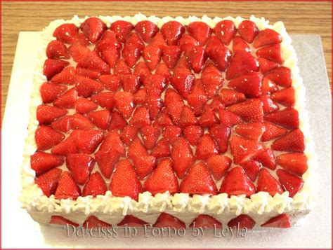 bagna per torte alla fragola torta allo yogurt e fragole rettangolare