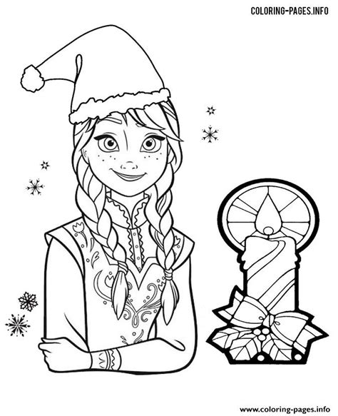 coloring page frozen christmas princess anna frozen christmas coloring pages printable