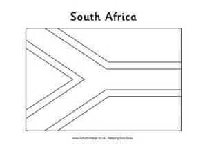 world flag templates south africa flag colouring page