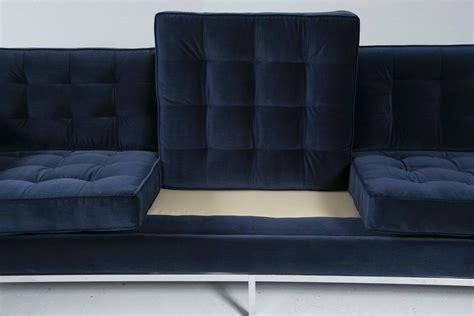 Florence Knoll Sofa In Navy Velvet For Sale At 1stdibs