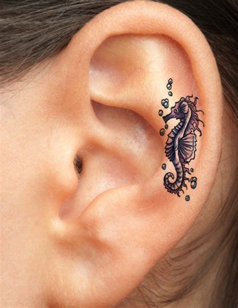 earring tattoo 124 most original ear tattoos