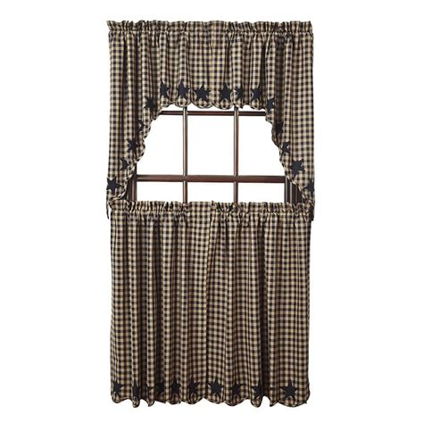 36 x 36 curtains black star scalloped curtain tiers 36 quot w x 36 quot l