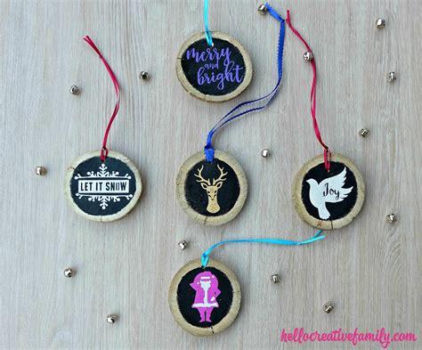 Handmade Wood Ornaments - diy upcycled wood ornaments hello creative family