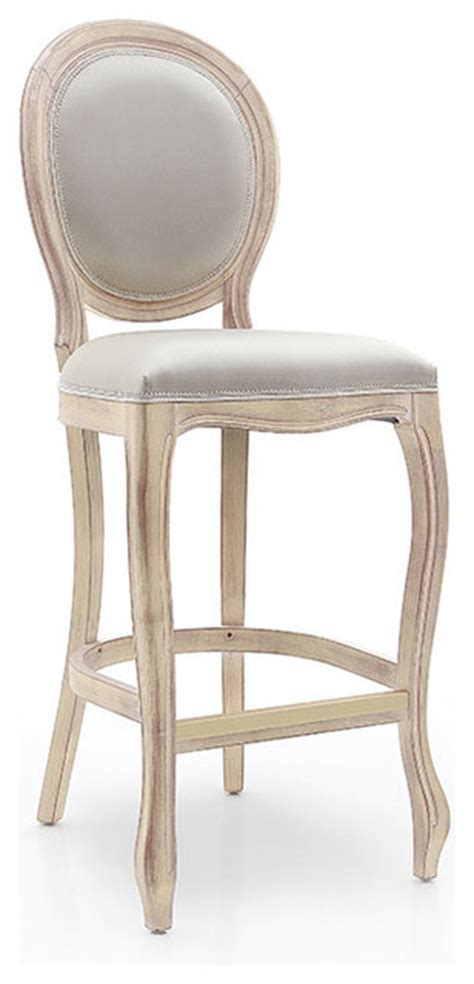 Oval Back Bar Stool by Louis Style Oval Back Bar Stool Shabby Chic Bar