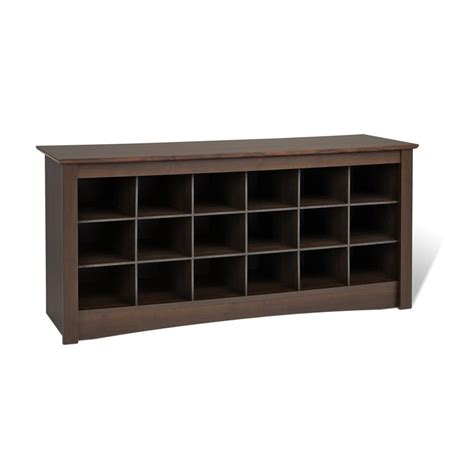 Entry Bench With Shoe Storage Prepac Entryway Shoe Storage Cubbie Bench Espresso Ess 4824