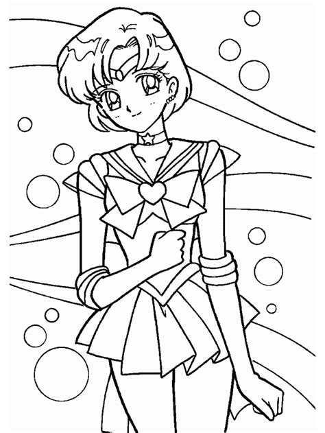 sailor mercury coloring pages sailor mercury coloring