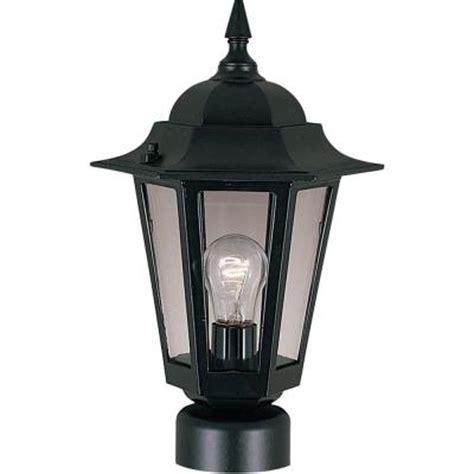 outdoor post light maxim lighting builder cast 1 light black outdoor pole
