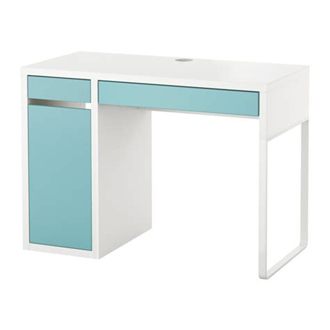 Micke Desk White Light Turquoise Ikea Micke Desk White