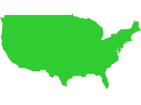 usa map outline vector america map silhouette free vector silhouettes