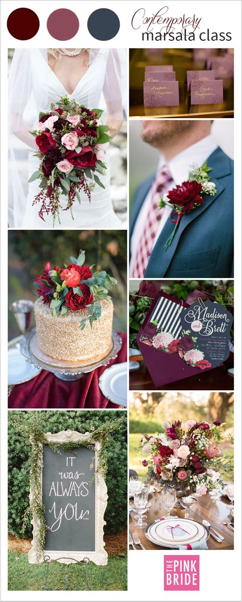 Pantone Color Of The Year 2018 by Wedding Color Board Contemporary Marsala Class The Pink