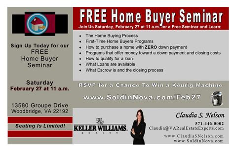Free Time Home Buyer Workshop by Keller Williams Realty