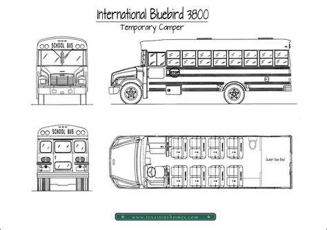 bus floor plans school bus rv conversion floor plans outside found school bus conversion tour outside found