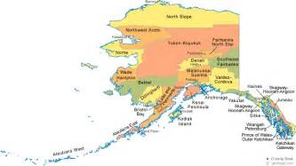 Map Alaska by Alaska Borough Map