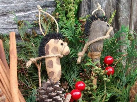 outdoor ornaments primitive grungy stick ornaments
