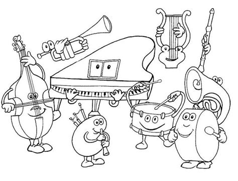 coloring pages instruments of the orchestra 17 best images about musical instrument coloring piano