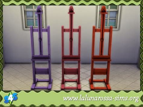 chess table chairs sims 3 my sims 4 chess table easel and bench recolors by