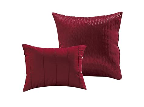 pinched comforter set 8 aubree pinched pleat burgundy comforter set