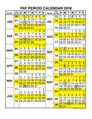 2018 federal payroll calendar | calendar template 2018