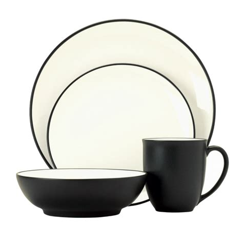 noritake colorwave graphite noritake colorwave graphite 4 person dinner set free serving bowl offer