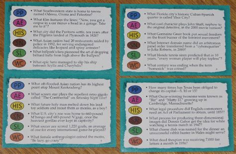 trivial pursuit card template trivial pursuit genus 5 v master card set 2000 ebay