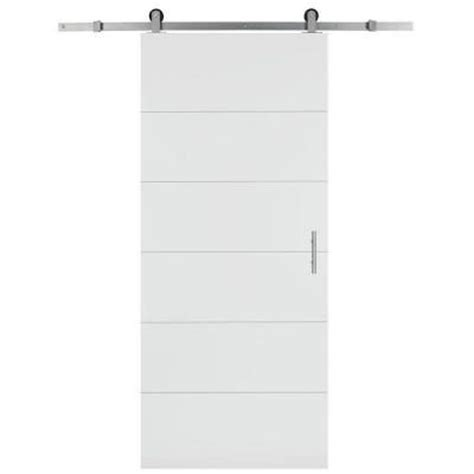 interior barn door hardware home depot masonite 36 in x 84 in solid primed