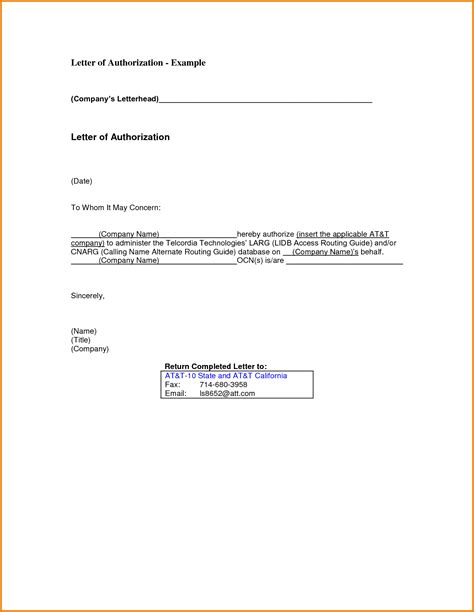 authorization letter letter of authorization sle authorization letter pdf