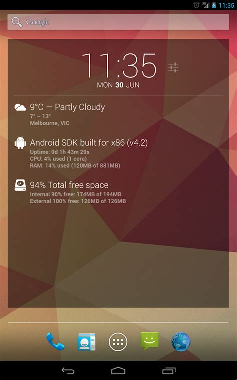 android themes extension dashclock deviceinfo extension android apps on google play