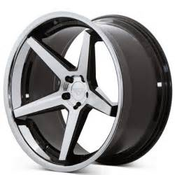 Black Truck Rims With Chrome Lip 22 Quot Staggered Ferrada Wheels Fr3 Black Machined Chrome Lip