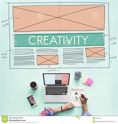 layout web online creative creativity web design layout concept stock photo
