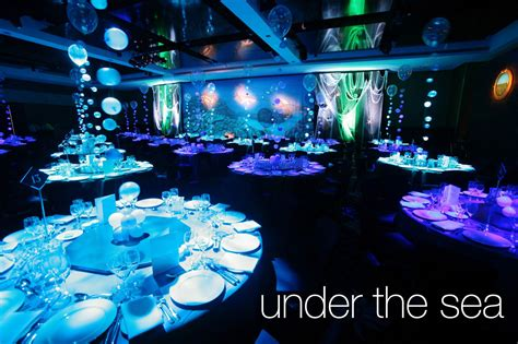 themed formal events under the sea theme event theming design pinterest