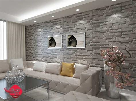 Modern Decor Ideas For Living Room 2015 wallpaper brick grey color 3d end 9 30 2017 11 15 pm