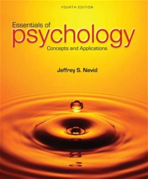 essentials of psychology books essentials of psychology concepts and applications