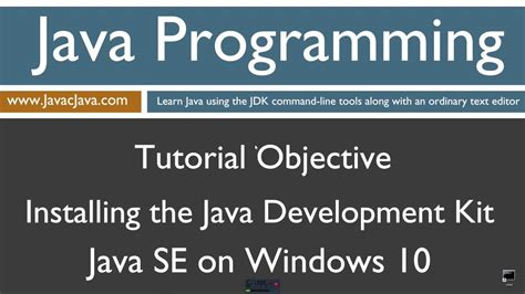 learn windows 10 tutorial learn java programming installing the java development