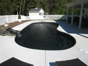 schwarzes schwimmbad black fiberglass swimming pool san juan pools of