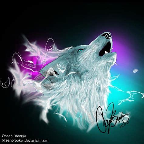 animal lights northern lights wolf spirit by oceanbrooker on deviantart