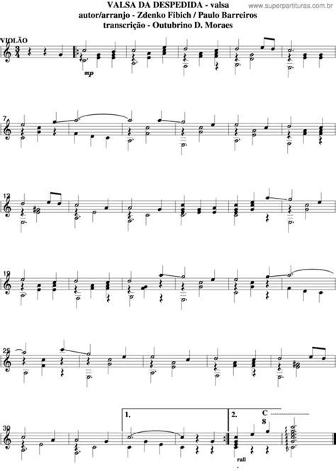 Super Partituras - Valsa Da Despedida v.2 (Zdenko Fibich