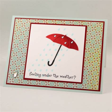 Get Well Soon Handmade Cards - get well soon card handmade get well card the weather