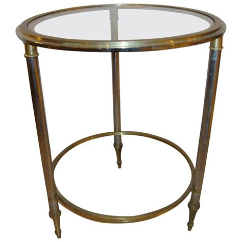 glass top end tables bronze bamboo bouilliotte glass top end table stand for