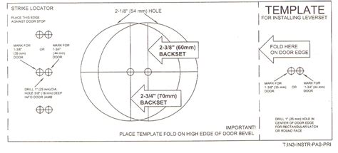 Deadbolt Template by Knobs Etc Llc Help Door Preparation