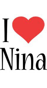 nina logo name logo generator kiddo i love colors style